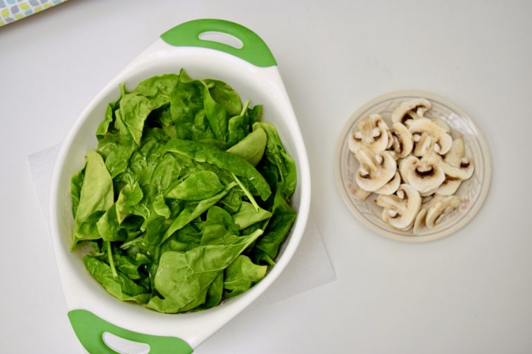 Sautéed Mushroom Spinach